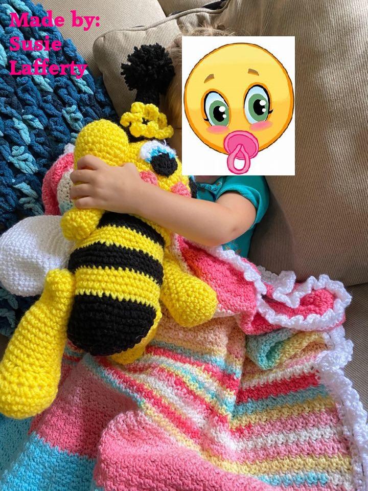 Susie Lafferty Bumblebee with blanket