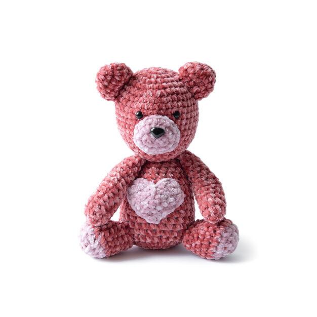 velvet valentine crochet bear